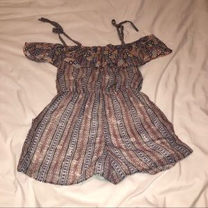 NWOT Francesca's Collections Printed Romper